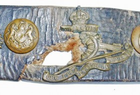 Royal Artillery Gunners belt from WWI