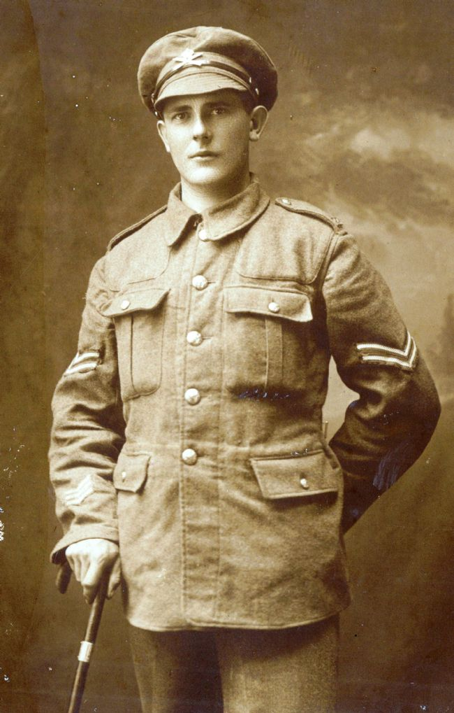 Photograph of WW1 soldier Leonard May in his service uniform
