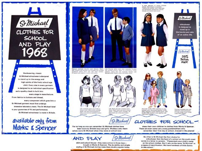 M&S Back to School magazine spread from 1968