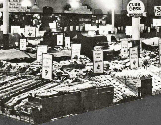 M&S Biscuit Counter 1938