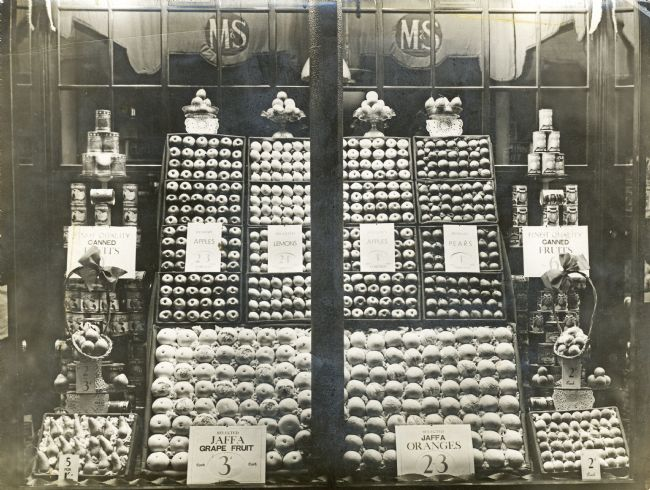 M&S 1930s Fresh Fruit Display