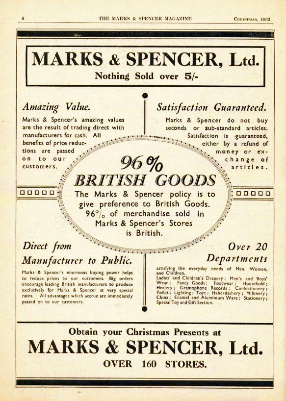 1932 M&S advert