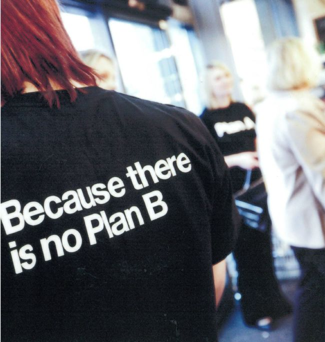 M&S Plan A Slogan on a T-Shirt