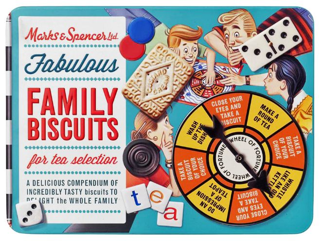 M&S Family Biscuits tin