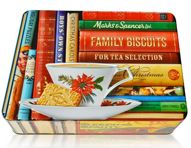 M&S Archive Inspired Christmas Biscuit Tin