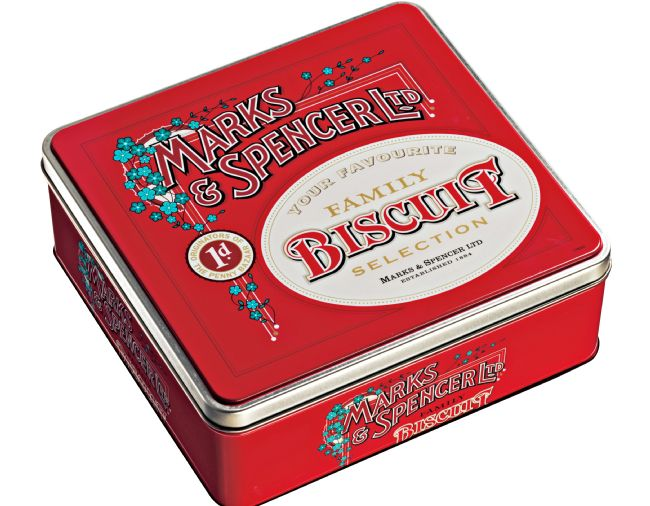 M&S Archive-inspired Christmas biscuit tin 2006