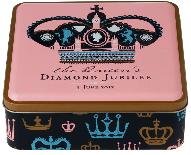 M&S Biscuit Tin Design for the Queen's Diamond Jubilee 2012