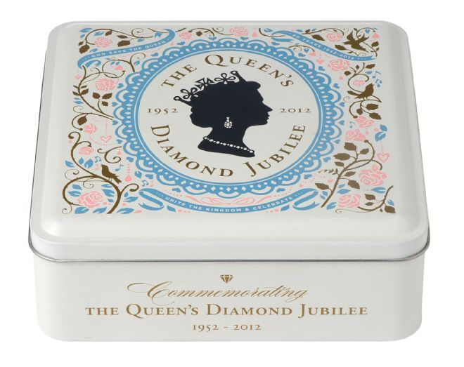 M&S biscuit tin designed for the Queen's Diamond Jubilee 2012