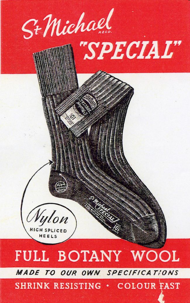 St Michael Socks Advert 1953