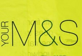 M&S logo on a carrier bag