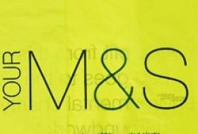 M&S logo on a carrier bag