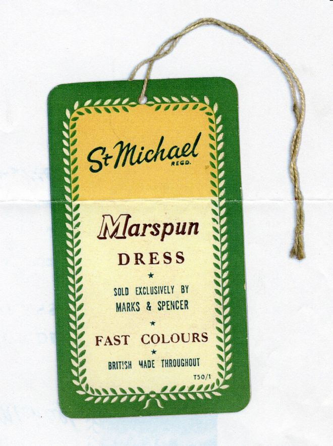 M&S Marspun Dress Label