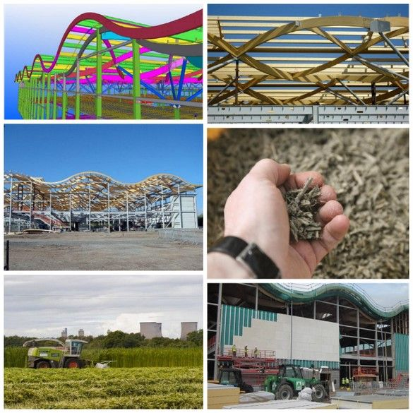Photo montage showing Building of M&S Cheshire Oaks Store