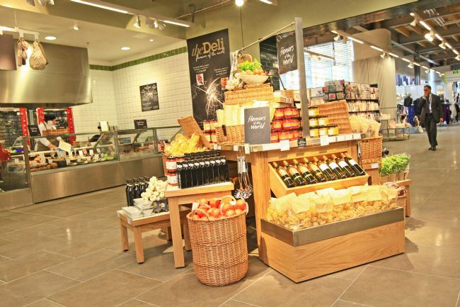Food display in the new M&S Cheshire Oaks store
