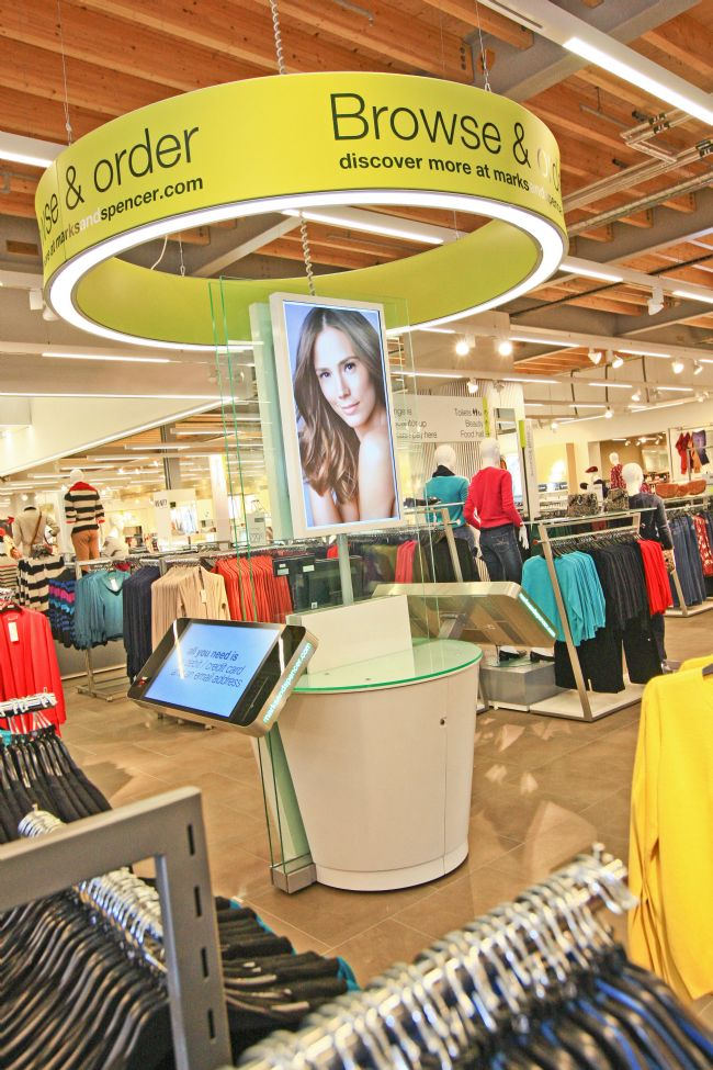 M&S Shopping Kiosk at the new Cheshire Oaks store