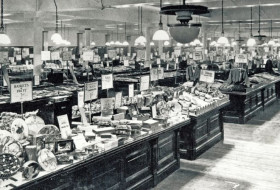 Archive photo of M&S early department store displays