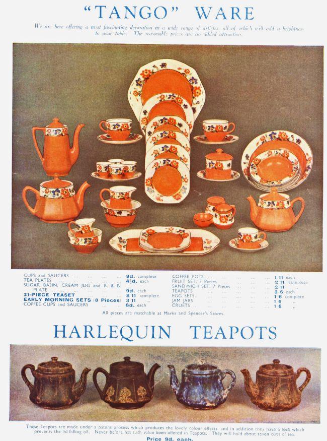 Advert for M&S Tango China range 1932