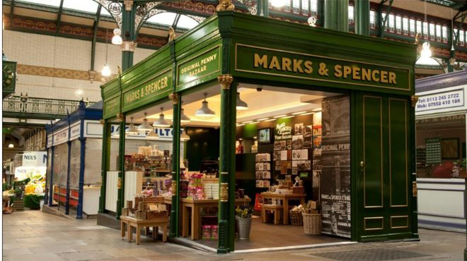 M&S Heritage stall in Leeds Kirkgate Market