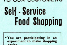 M&S archive notice explaining self-service shopping