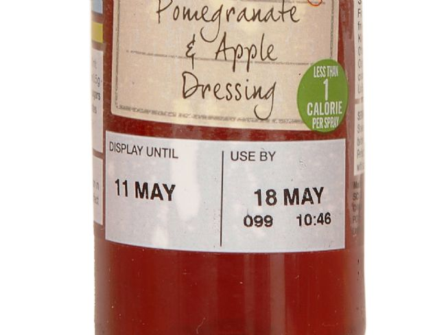 M&S Sell-by and Use-by Label
