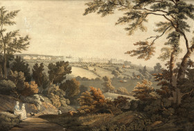 Fulneck Moravian Settlement, by Charles Henry Schwanfelder, 1814