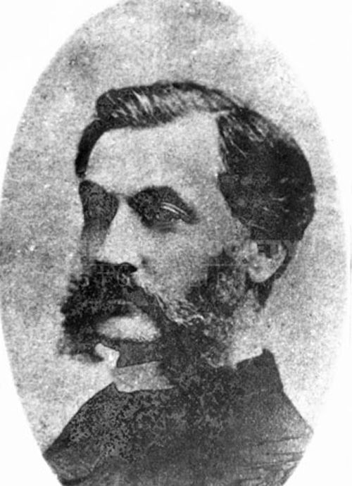 Early cinematographer Louis Le Prince.  He has dark hair and a long, dark moustache.