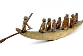 Ancient Egyptian Funerary Boat