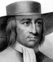 Black and white drawing of a man with hair down to his shoulders.  He wears a wide brimmed hat and has a white scarf tied at his neck.