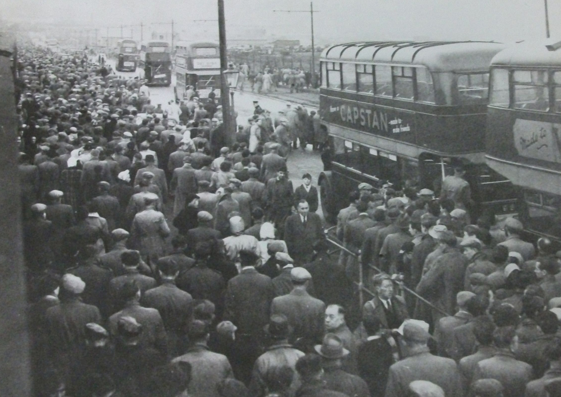 Leeds United fans on their way home after a match at Elland Road