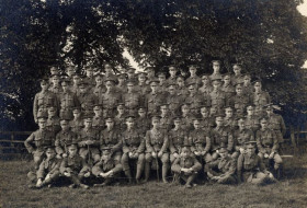 Group photograph of the Leeds Pals