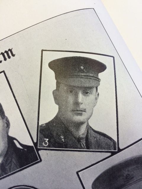 Headshot photograph of soldier in WW1 uniform