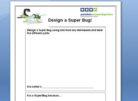 Super bug design template