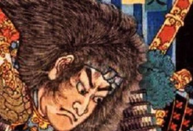 Detail from a Japanese woodblock print