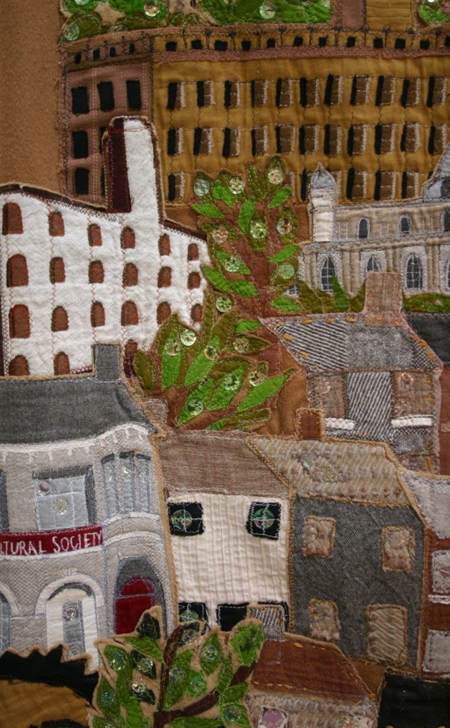 Salts Mill made by students in fabric for Coat of Many Cultures