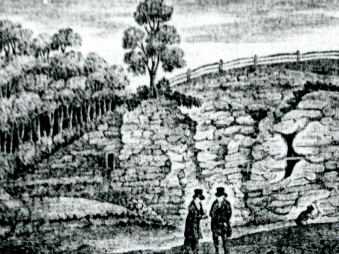 Engraving of Kirkdale Cave entrance