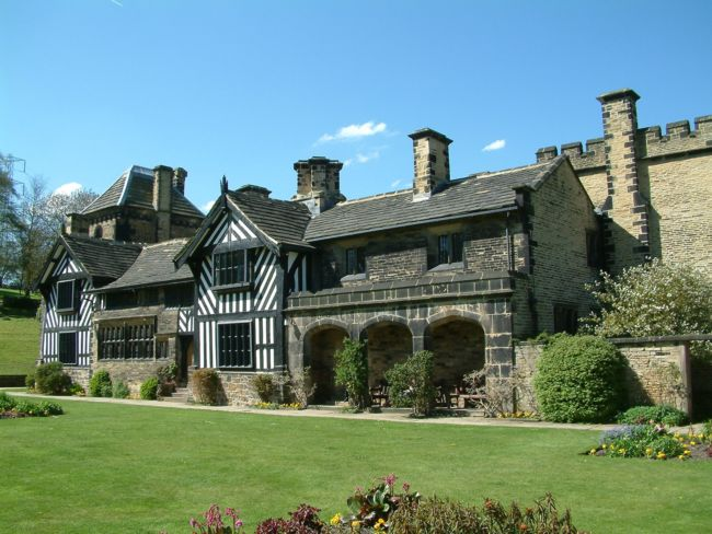 The exterior of Shibden Hall