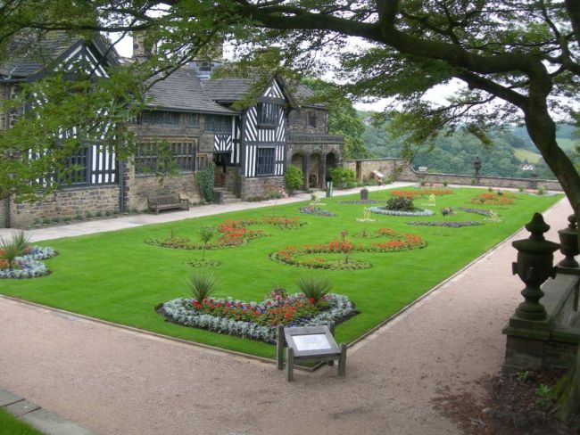 Exterior of Shibden Hall, Halifax and park