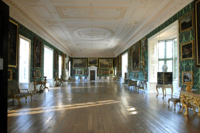 The Picture Gallery, Temple Newsam House, Leeds.  This has been restored to its original look and is richly adorned with paintings and carved furniture