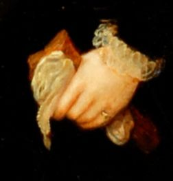 Detail of gloves taken from a portrait of Henry Lord Darnley