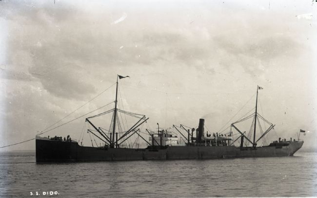 Photograph of the Wilson line ship the SS Dido. The Dido was sunk by a German mine at the mouth of the Humber on 25 February 1916