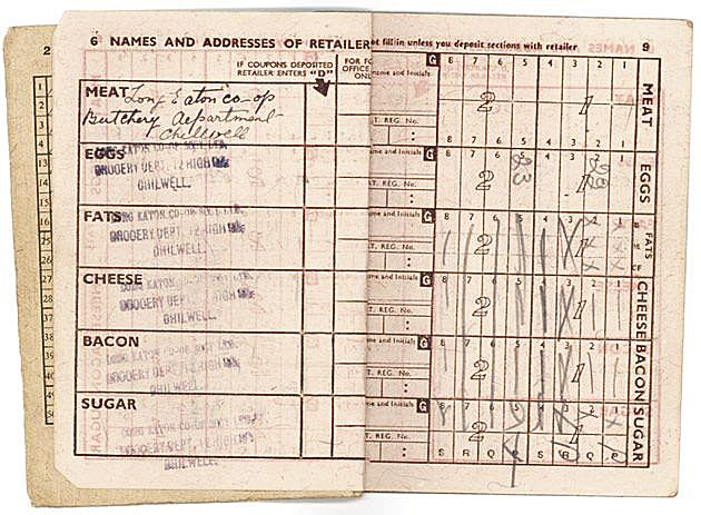 image about Ration Book Ww2 Printable identified as Rationing and Shortages What Did WW2 Little ones Consume