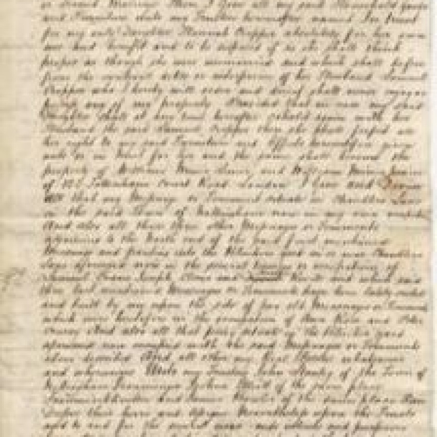 George Africanus Will and Testament Transcript