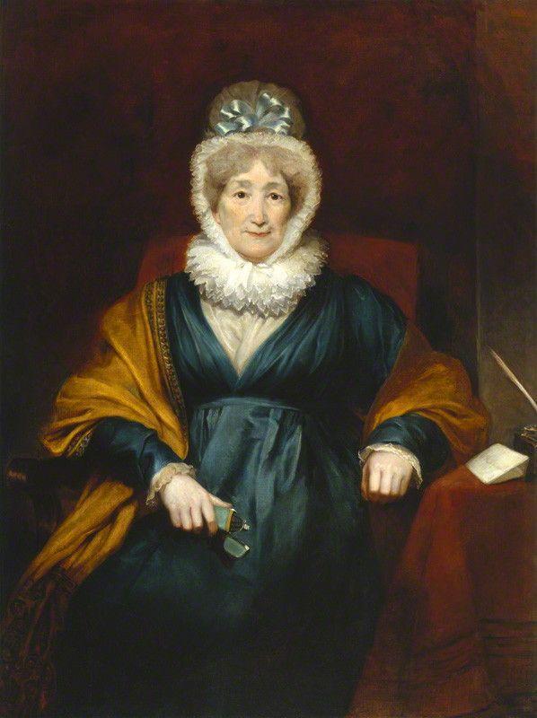 Coloured portrait of an elderly woman in Victorian dress