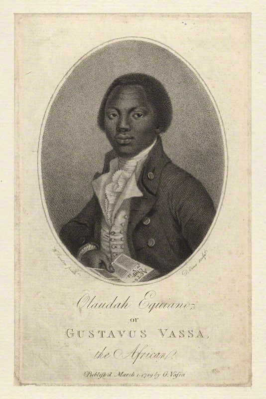 Portrait of ex-slave Olaudah Equiano