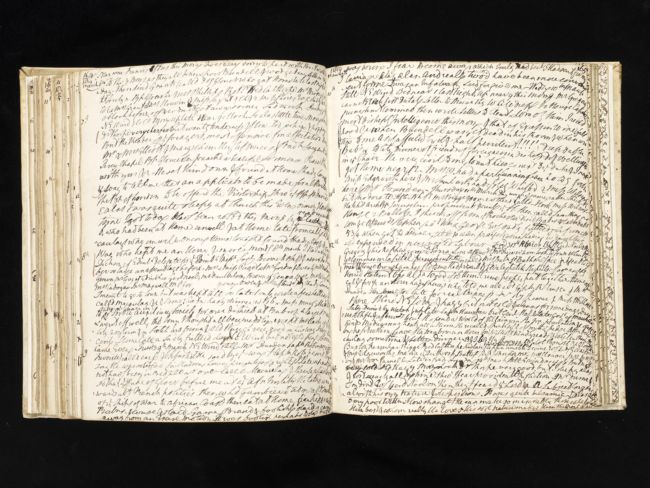A handwritten journey with the pages covered in writing