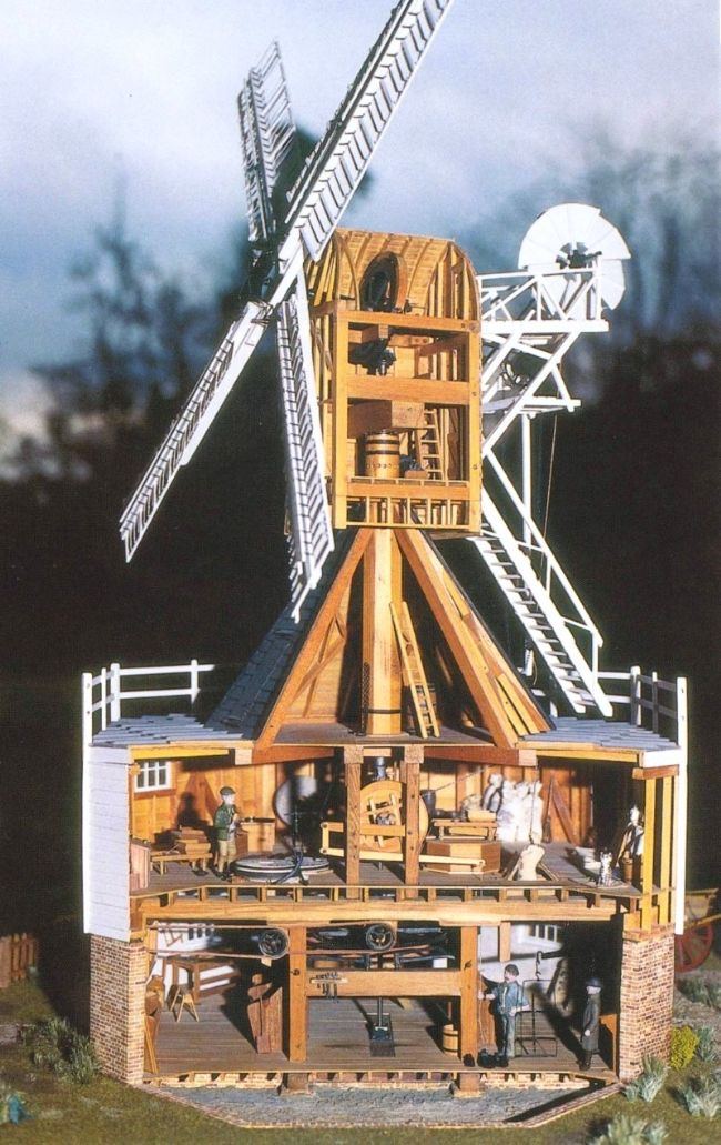 Detailed model of Wimbledon Windmill