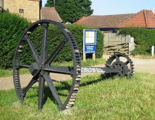 Old mill wheel from Wimbledon Windmill