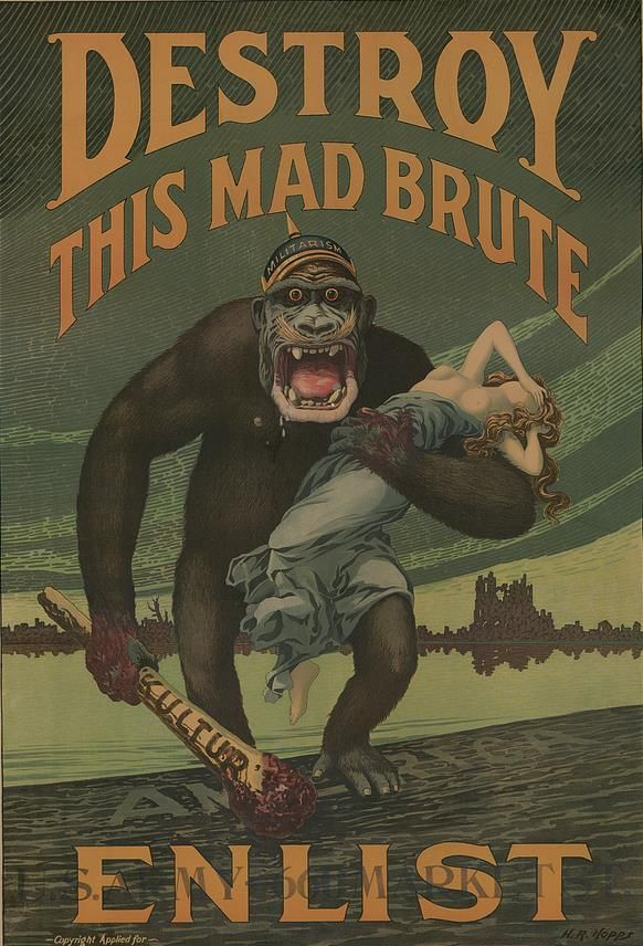 Writing to the 'Enemy' in WW1 - Army recruitment poster depicting ...