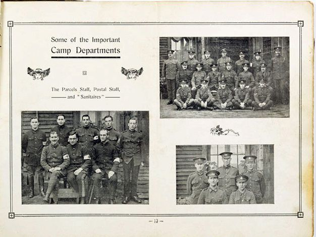 The Rennbahn POW Camp Departments shown in the Rennbahn Review including the vital parcel and postal staff