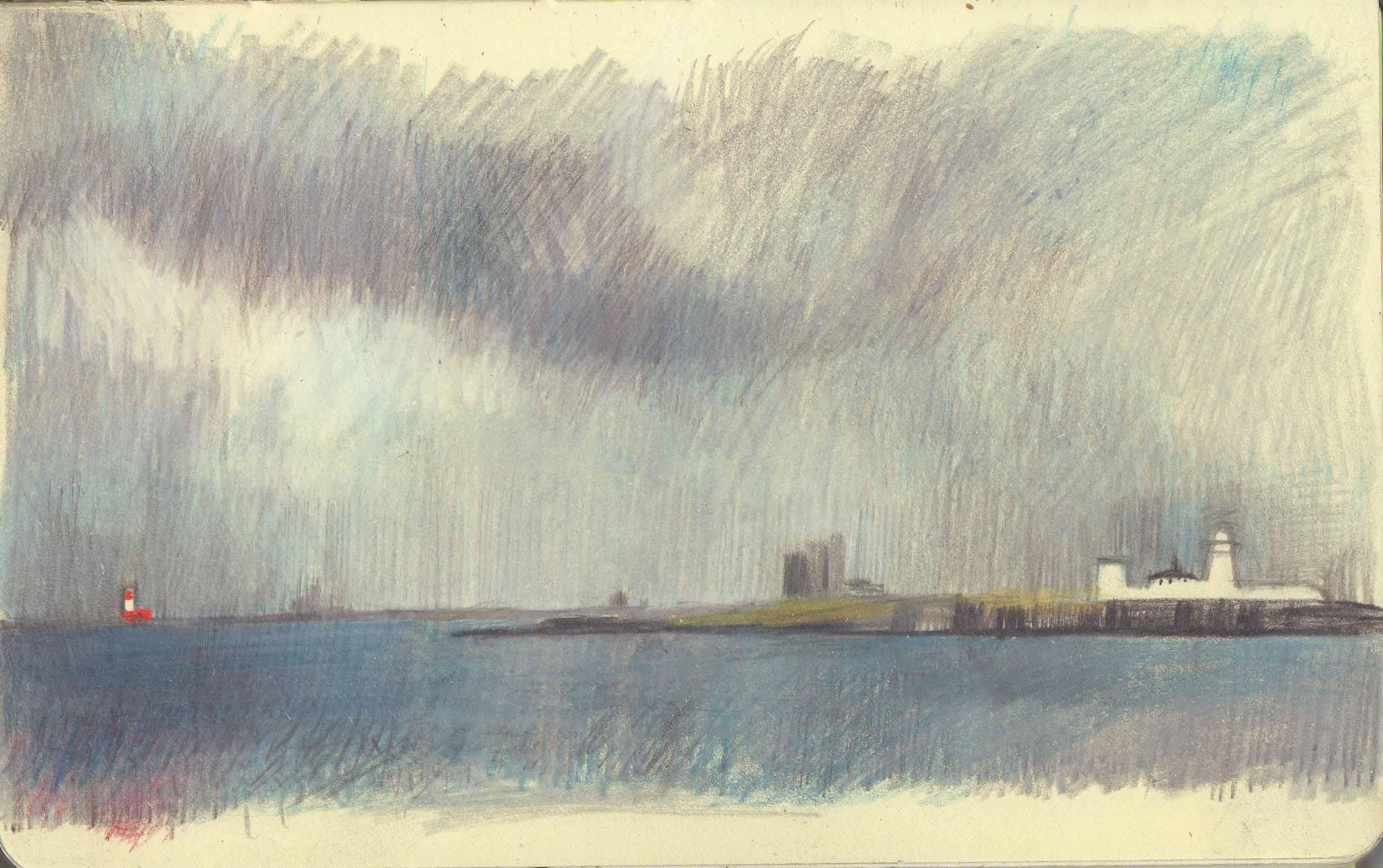 Seascape Sketch 2 by Kyra Cane